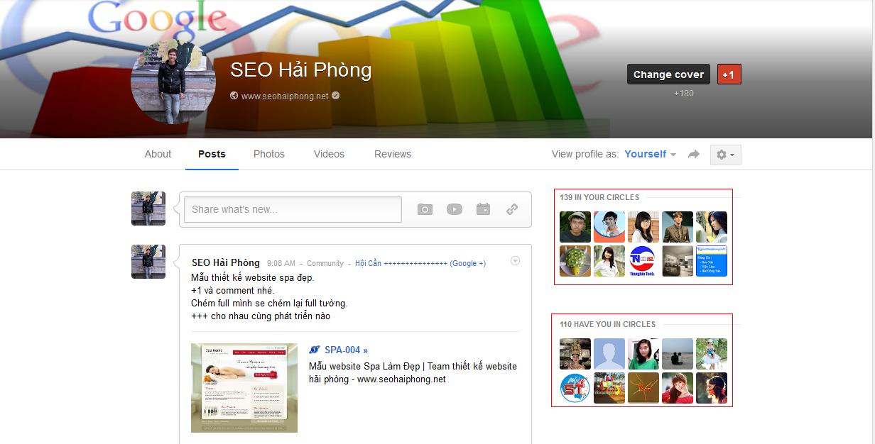 Hướng dẫn SEO trên Google Plus