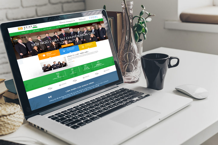 thiết kế web giới thiệu công ty luật