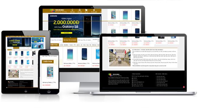 mẫu web bán điện thoại