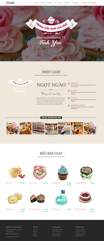 Thiết kế website cho tiệm bánh ngọt tại Hải Phòng