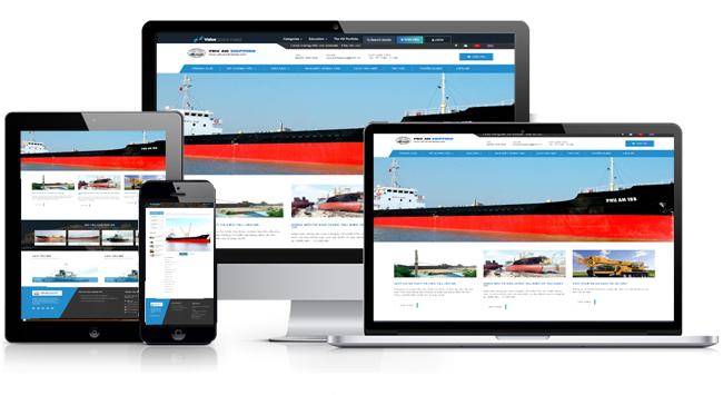 thiết kế website vận tải, logistics