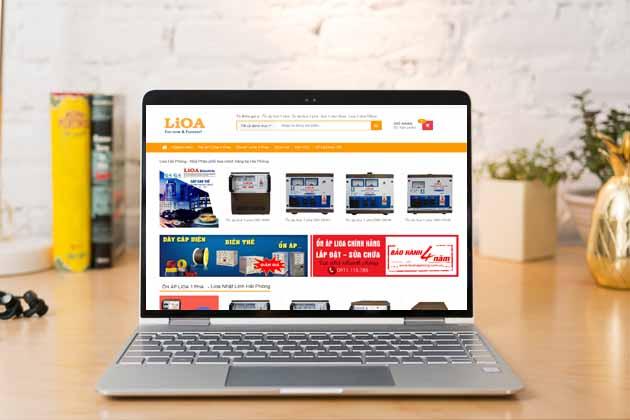 Mẫu website bán ổn áp lioa